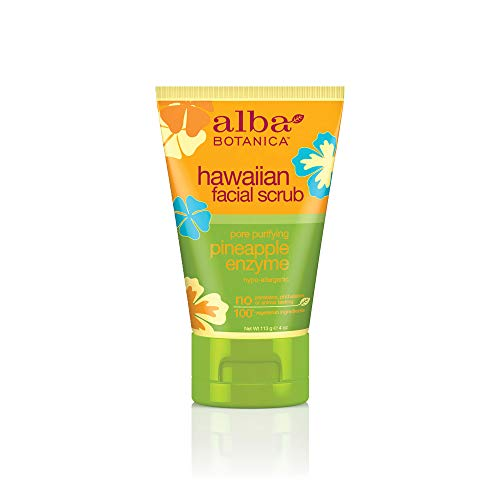 Alba Botanica Pore Purifying Pineapple Enzyme Hawaiian Facial Scrub, 4 oz.