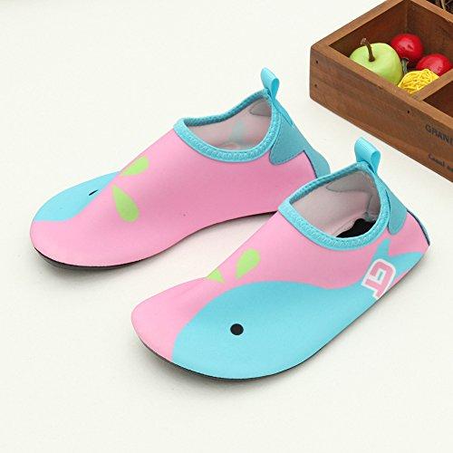SENFI Jungen Mädchen Wasser Schuhe Mutifunctional Barfuß Quick Dry Aqua Schuhe Für Strand Pool Übung (Kleinkind / Little Kid / Big Kid) Rosa