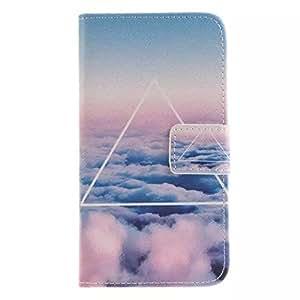 Painted Colorido Serie PU Cuero Cartera Caso cubrir Funda para Samsung Galaxy On5 / G5500 Case Carcasa protectora piel Shell con ranuras Tarjetas (03#)