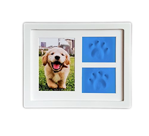 dog-or-cat-paw-prints-pet-memorial-triple-photo-frame-4x6-with-clay-impression-kit-perfect-keepsake-