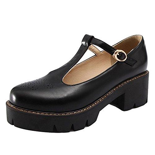 Fashion Summer Black Closed Platform Women TAOFFEN Shoes Shoes Toe Cqwz785v