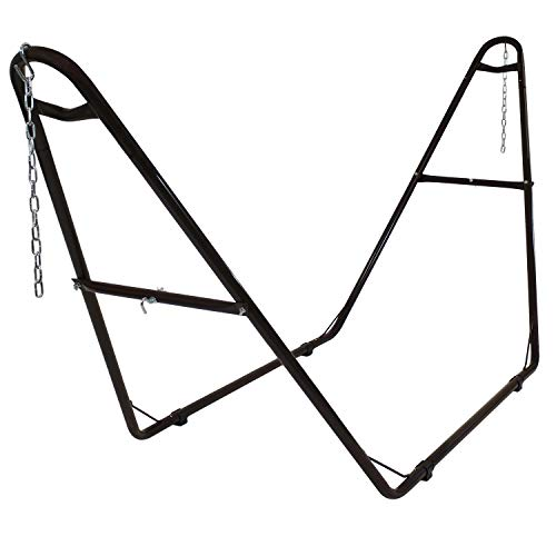 Sunnydaze 550-Pound Capacity Universal Multi-Use Heavy-Duty Steel Hammock Stand, 2 Person, Fits Hammocks 9 to 14 Feet Long, Bronze