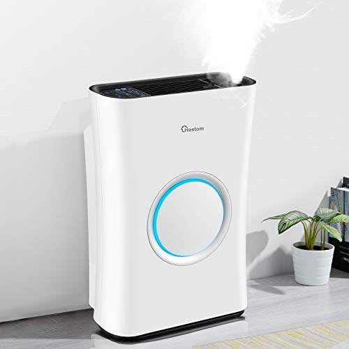 Hestom Air Purifier with Humidifier for Large Room, 1200 Sq Ft Coverage, H13 HEPA Air Cleaner Filter for Home, Ideal for…