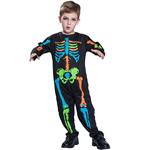 Children's Cospaly Skeleton Suit, Kids Halloween Costume Toy