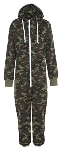 mens womens ladies unisex onesie camo all in one pajama pyjamas jumpsuit Fury