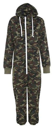 mens womens ladies unisex onesie camo all in one pajama pyjamas jumpsuit