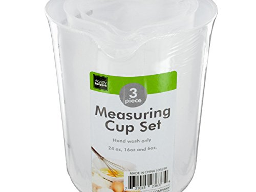 Plastic Measuring Cup Set - Pack of 12 from Handy Helpers