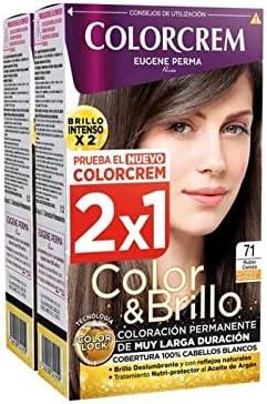 COLORCREM COLOR & BRILLO TINTE CAPILAR 71 RUBIO CENIZA x 2 ...