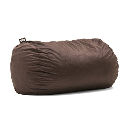 Big Joe 0002656 Media Lounger Foam Filled Bean Bag Chair, Cocoa Lenox