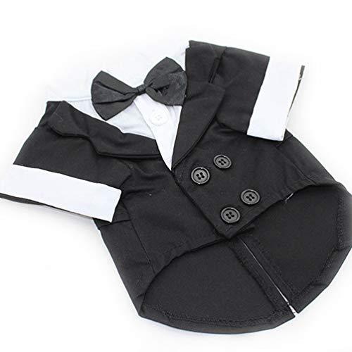 (Jim Hugh Dog Jacket Coat British Style Pet Dog Wedding Tuxedo Clothes Gentleman Formal Party Clothes Costume)