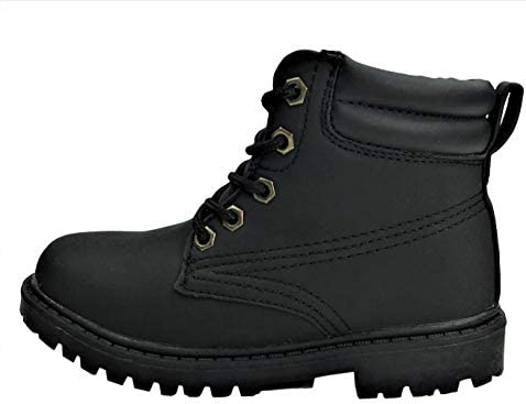 30ff133f7eb Classic Work Boots Lace-Up Ankle High Top Black, 10: Amazon.com ...