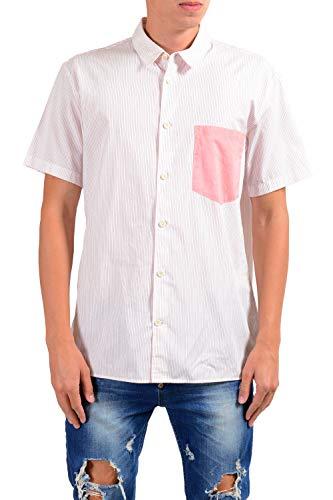 Marc Jacobs Men's Striped Short Sleeve Casual Shirt Size US M IT - Shirts Marc Men Jacobs