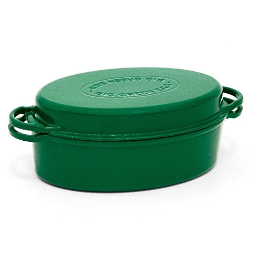 Dutch Oven - Cast Iron Enameled Dutch Oven By Big Green Egg - 5.5 Quart Authentic Big Green Egg Accessory - Lid Doubles As A Shallow Baking Dish