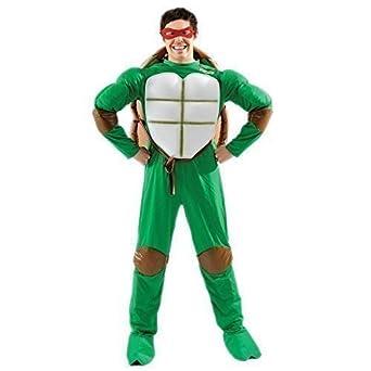 Para hombre Deluxe Teenage Mutant Ninja de cabeza de tortuga ...