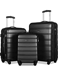 3 Pcs Luggage Set Expandable Hardside Lightweight Spinner Suitcase with TSA Lock [Upgraded Version]
