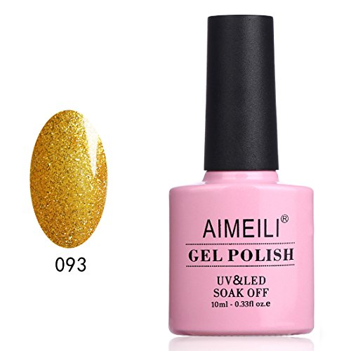 AIMEILI Soak Off UV LED Gel Nail Polish - My Fantasy Gold (093) 10ml (Gel Coat Fantasy)