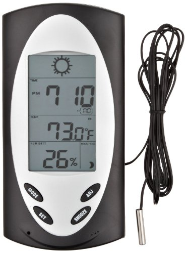 Wheel Barometer - H-B DURAC Indoor/Outdoor Weather Station with Wired Sensor (B61500-0100)