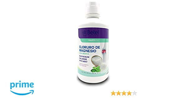 Cloruro de Magnesio Con Menta Liquid 32 Ounce - Magnesium Chloride with Mint - Betel Natural