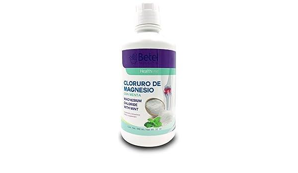 Cloruro de Magnecio con Menta 32 oz by Betel Natural: Amazon.es: Salud y cuidado personal