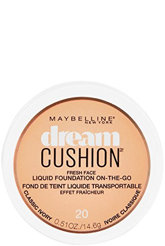 Maybelline New York Dream Cushion Fresh Face Liquid Foundation, Classic Ivory, 0.51 Fluid Ounce