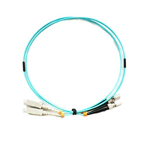 5 Piece 5.0 Meter SC UPC TO ST UPC 10Gbps 50/125 OM3 MM Multi Mode Fiber Patch Cord 2.0mm Duplex by ALLSTRONG
