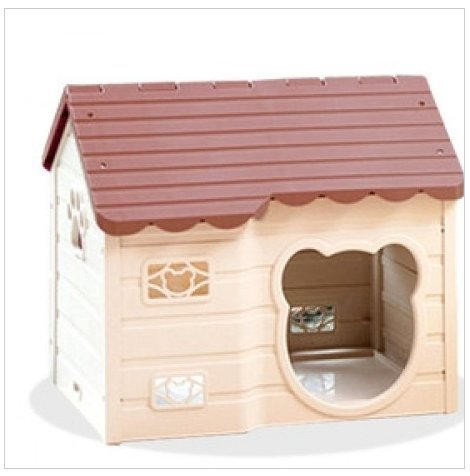 Alpha Dog Series Medium-Sized Indoor Plastic Doghouse (Brown)
