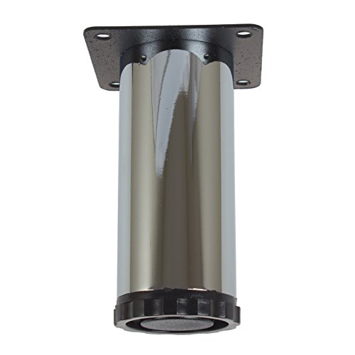 GlideRite Hardware 4 Inch Steel Furniture Legs With Height Adjustable  Leveling Screw Polished Chrome U2013