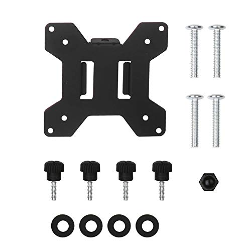 (WALI VESA Mounting Plate 75 by 75 mm to 100 by 100 mm for WALI Monitor Mounting System (VESA-1), Black)