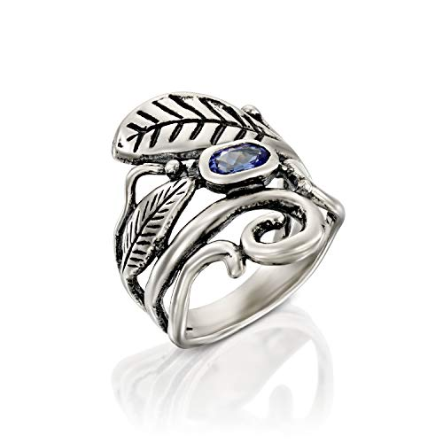 - 925 Sterling Silver Tanzanite Ring for Women - December Birthstone Ring by Paz Creations (5)