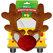 Win&Co Car Reindeer Antlers & Nose Costume Reindeer Christmas Car Character Kit Party Accessory 2018 Version