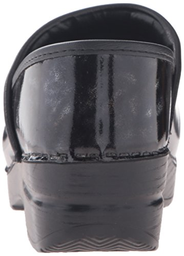 Dansko Vrouwen Professionele Mule Zwart Marmer Patent