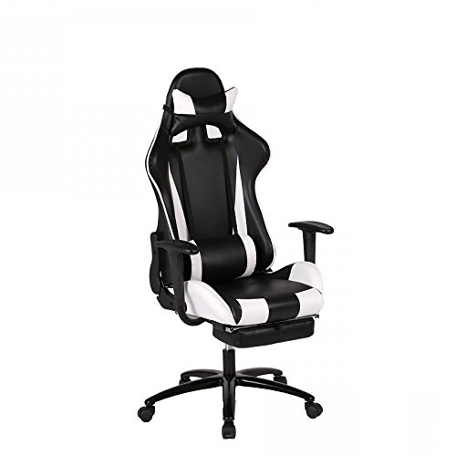 New White, Gaming Chair High-back Computer Chair Ergonomic Design Racing Chair RC1