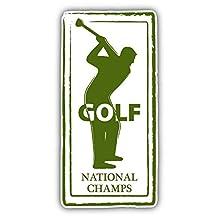 Golf Retro Passport Stamp Vinyl Decal Bumper Sticker 3'' X 6''