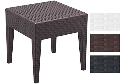 Clp tavolo polirattan miami per giardino tavolino quadrato