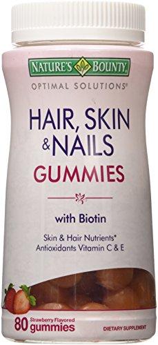 natures-brand-bounty-optimal-solutions-hair-skin-nails-gummies-80-ct