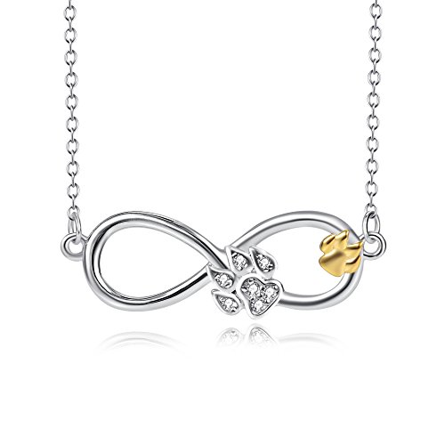 S925 Animal Cat Dog Pet Jewelry Sterling Silver Infinity