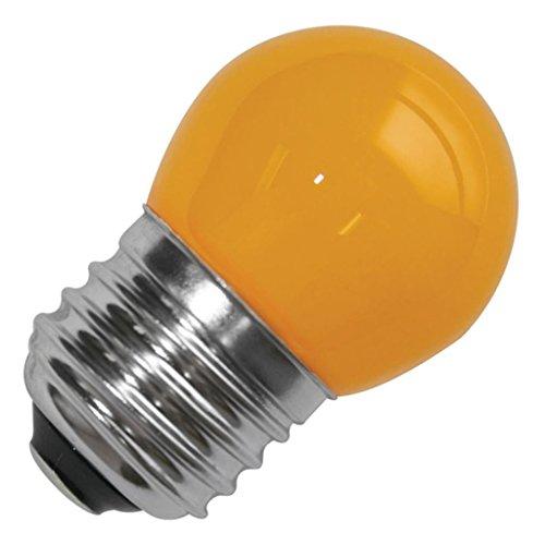 Litetronics 69030 - 1W S11 MED 120V CY 25,000H Standard Screw Base Colored Scoreboard Sign Light Bulb