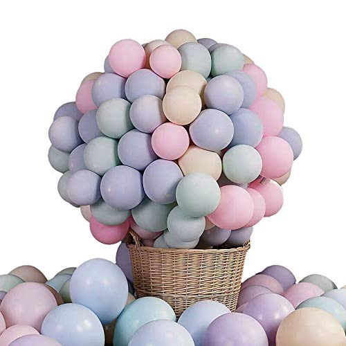 Pastel Latex Balloons 100pcs 10 Inches Assorted Macaron Candy Colored Party Balloons for Wedding Graduation Birthday Christmas Baby Shower Party Decoration - Multicolor ()
