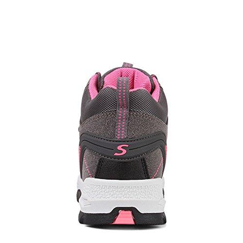 Fexkean Impermeabili Stivali In Escursionismo Scarpe Donna 45 Grigio Hiking 35 1 Da Trekking Sneakers Sportive Uomo Corsa Pelle BwrwPqt