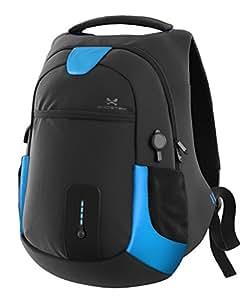 "Ghostek NRGbag Series Computer Laptop Messenger Backpack Book Bag + Battery Power Bank   Water Resistant   7000mAh   Lightweight   Multipurpose   Fits Laptops Up To 15.6""   iPhone, Macbook (Blue)"