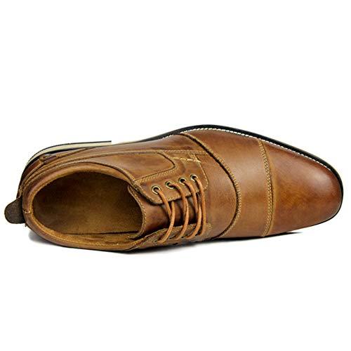 Derby Di Il Scarpe Cuoio Uomo Lace Partito Del Brown Vestito Banchetto  Convenzionale Da Casuali D affari Calzature ... 53bf5e80a2b
