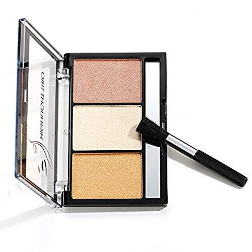 Color Concealer Foundation Stick Highlight Contouring Face Makeup Comestic Tool - 3-Color High-Light Repair Capacity Powder