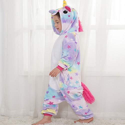 Unicorn Animal Pajamas for Girl Kids Warm Winter Children One Piece Cosplay Costume Halloween Christmas Party -