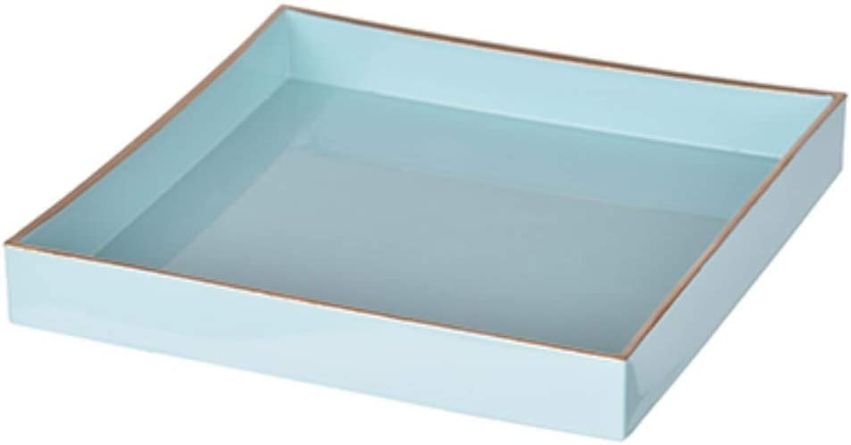 Benzara Turquoise Bm145836 Alluring Mimosa Square Tray Home Kitchen