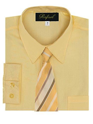 Boy's Dress Shirt & Tie - Banana, 16