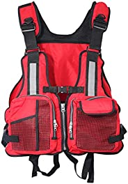 Life Jackets for Adults, Life Jacket for Kayaking, Adjustable Swimming Buoyancy Fishing and Water Sports Life
