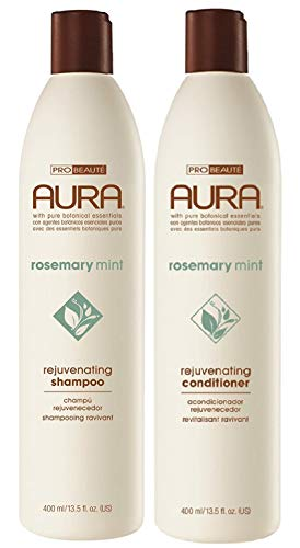 Aura Shampoo & Conditioner Rosemary Mint Rejuvenating Set, Value Pack, 13.5 Ounce each