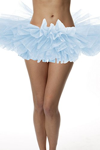 Top Rated Adult Tutu Skirt, ballet tutu style, by BellaSous. Perfect princess tutu, adult dance skirt, rehearsal tutu, or petticoat skirt. Plus size tutu available! Tulle fabric - Light Blue (Organza Petticoat)