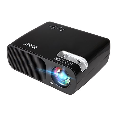 Projector, iRULU BL20 Video Projector, LED Projector, HDMI VGA AV USB for Mac PC Laptop Smartphone Back Yard Movie/Home Entertainment/Child Game + 1 Year Warranty - Black