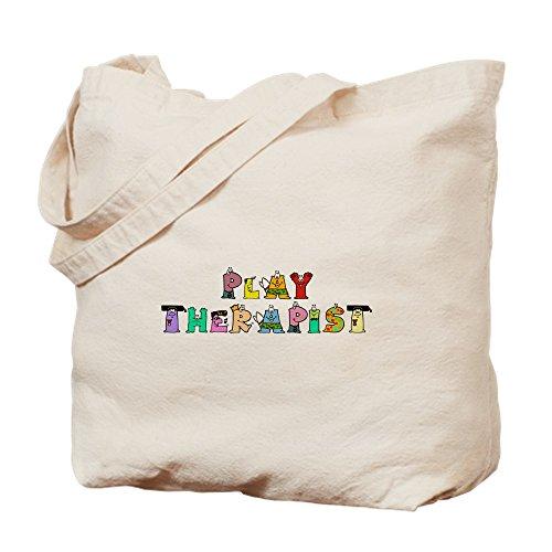 CafePress - Play Therapist - Natural Canvas Tote Bag, Cloth Shopping Bag